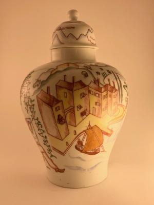 Vase with cap